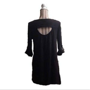 She and Sky womens black large dress keyhole